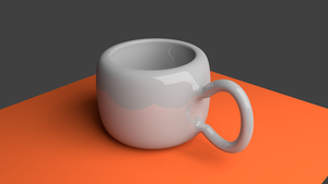 My first attempt with blender (Cup) by skyarex