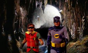 Batman and Robin and the Raiders Rolling Boulder by Brandtk