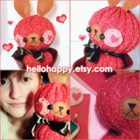 Choco Cherry Bun by hellohappycrafts