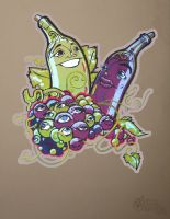 Wine Print by draweverywhere