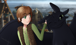 Hiccup and Toothless by Jumbreon