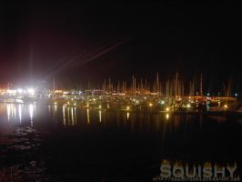 Plymouth Harbour At Night by squishy2004