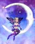 Li'l Fae and the Moon by RavenMoonDesigns