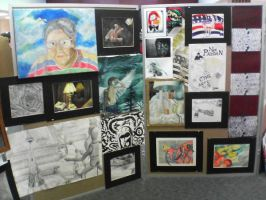 My Senior Art Exhibit by DarkAngelKalas