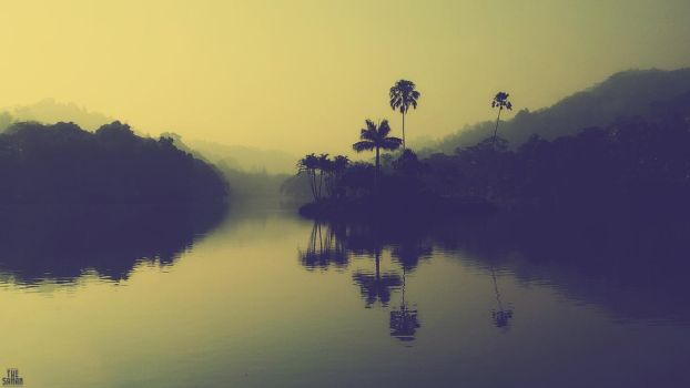 Kandy Lake Morning - Wallpaper by TheSahan