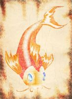 Koi Fish on Parchment by Zoso1024