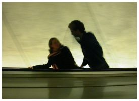 Tilted Escalator Ride by sillylittleidiot