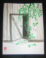 sumi-e and watercolor ivys life by Iolii
