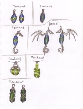 Glass bead-designs by obiskus
