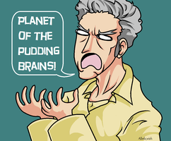 Doctor Who: Planet of the Pudding Brains! by Albels-wish