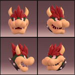 Blender Doodles(?): BOWSER! by SmashingRenders
