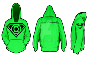 Green Lantern Superman Hoodie idea test 1 by KalEl7