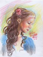 Padme coloured by AngelinaBenedetti