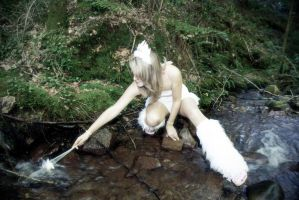 Fairy playing in a stream by HyperXP