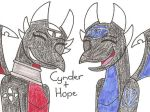 Cynder and Hope by 12051993