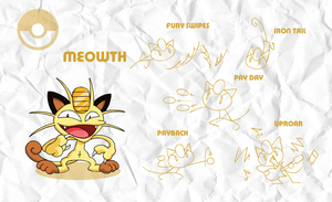 SMASH: Meowth by professorfandango