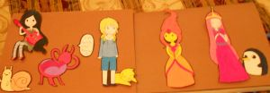 adventure time cutouts by Dakusuwan