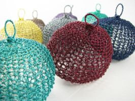 Wire Christmas ornaments by CatsWire