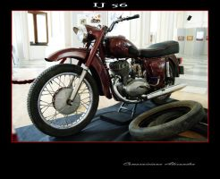 1 red IJ 56 motocycle by comarnicianu