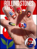 The Rolling Stones Nails by JawsOfKita-LoveHim