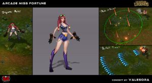 Arcade Miss Fortune skin concept by momobucket