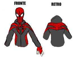 Spidey Hoodie Colored Sketch by DankoDeadZone