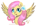 Fluttershy Painting Practice ~ by chichicherry123