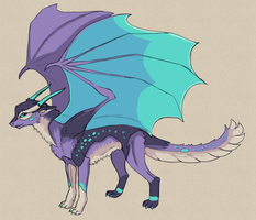 Lavender Dragon by Pseudolonewolf