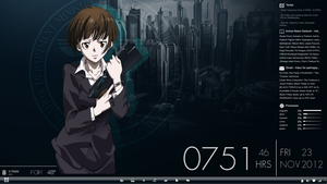 My Psycho Pass themed desktop. by Kidvicious18