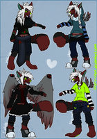 Naru's Main Outfits. by SickAede