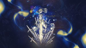 Saber, King of Knights Wallpaper by intencities