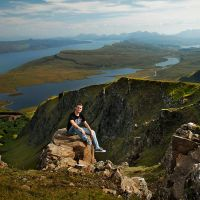 Me in Scotland :) by adypetrisor