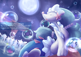 Gotta Draw Em All Collab - Primarina by Phyllocactus