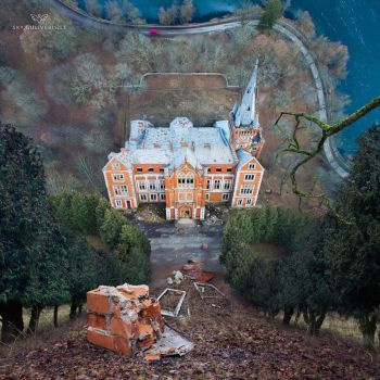 Mind bending abandoned Lentvaris manor by Simonas-Sileika