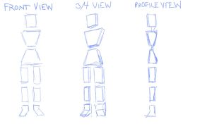 Female Perspective Practice - Basic Shapes 1 by TheSkaldofNvrwinter