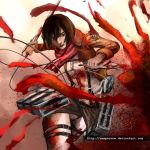 Mikasa Ackerman in Motion (Attack on Titan) by sempernow