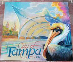 Tampa River Walk Chalkart by charfade
