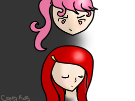 Draw this again: Queen Trina and Laney by CandyKitttyGoesMeow
