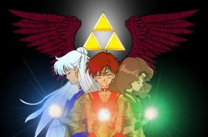 Triforce Sailors by BluSilvrPaladin