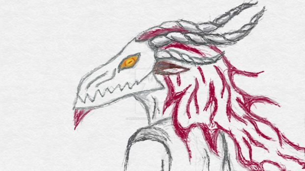 Daily sketch 2016 #002 - You should be scared by Hatre-Keddah