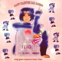 Valentine for Sasuke by wormmonsoul