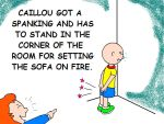Caillou Got A Spanking by AVRICCI