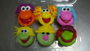 Fraggle Rock Cupcakes by AingelCakes