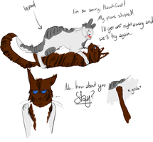 Hawkfrost and Ivypool (HawkxIvy) sketch by kylahcheyenne
