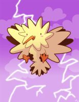 Happy Zapdos by jiggly