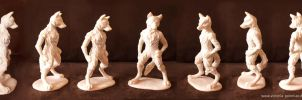 Anthro wolf sculpture by Victoria-Poloniae