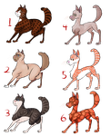 Realistic Warrior Cats Breedables -- OPEN 4 Slots by EleventhChosenOne