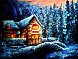 Christmas Cabin by Meorow