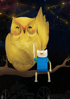 Finn And Owl by RainbowHorrors