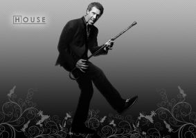 Dr. House Wallpaper by clubbing-claude